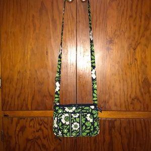 Vera Bradley crossbody purse with matching wallet